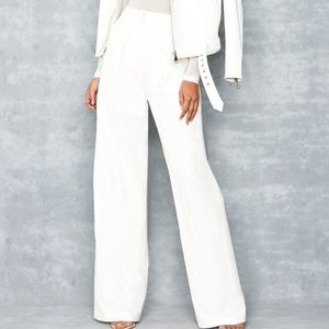 Milly $395 White Wide Leg Pants Trousers